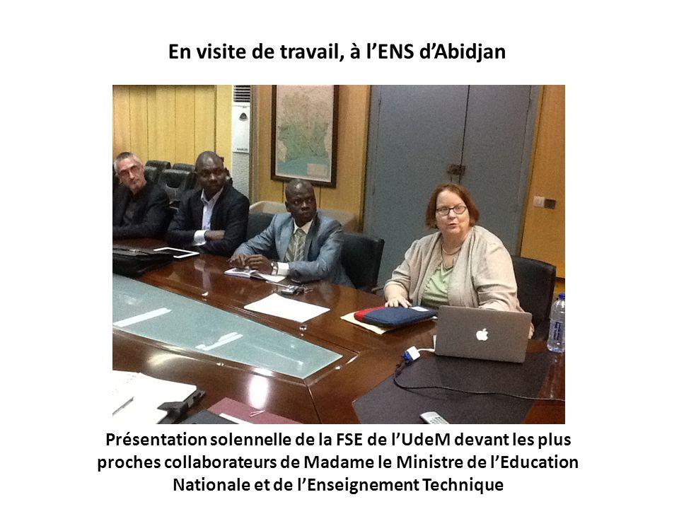 Présentation solennelle de la FSE de lUdeM devant les plus proches collaborateurs de Madame le Ministre de lEducation Nationale et de lEnseignement Te