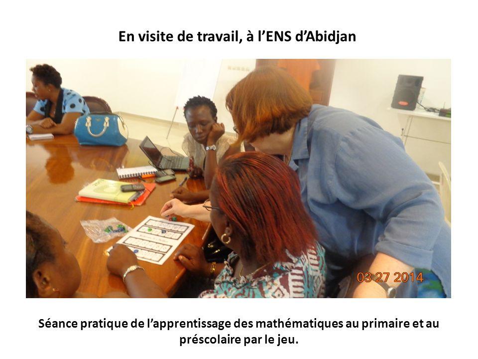 Séance pratique de lapprentissage des mathématiques au primaire et au préscolaire par le jeu.