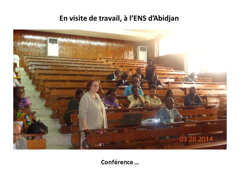 Conférence … En visite de travail, à lENS dAbidjan