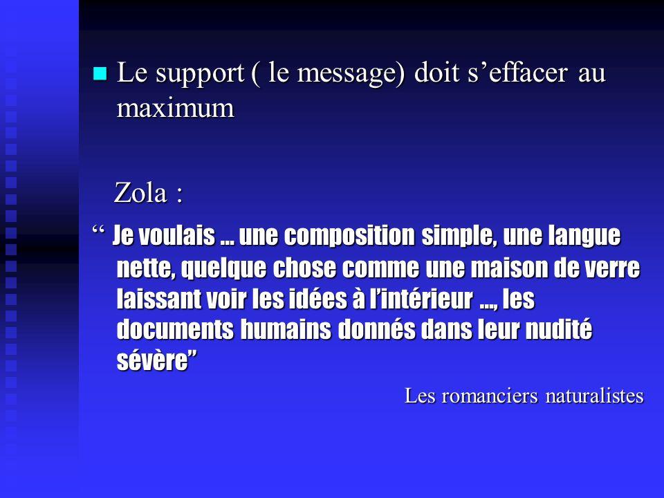 Lécriture Le texte réaliste tend à une écriture transparente,monopolisée par la transmission dune information.