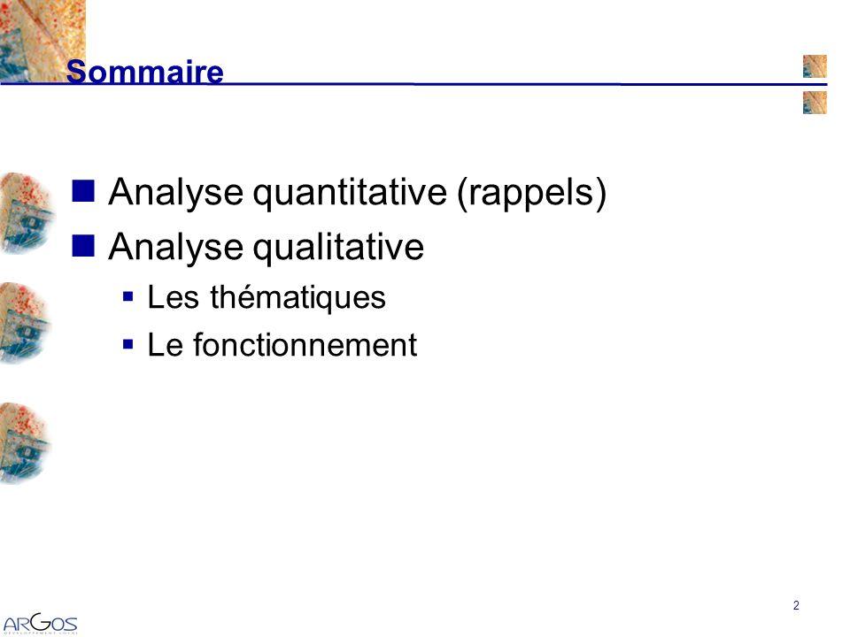 13 Analyse qualitative Évaluation qualitative