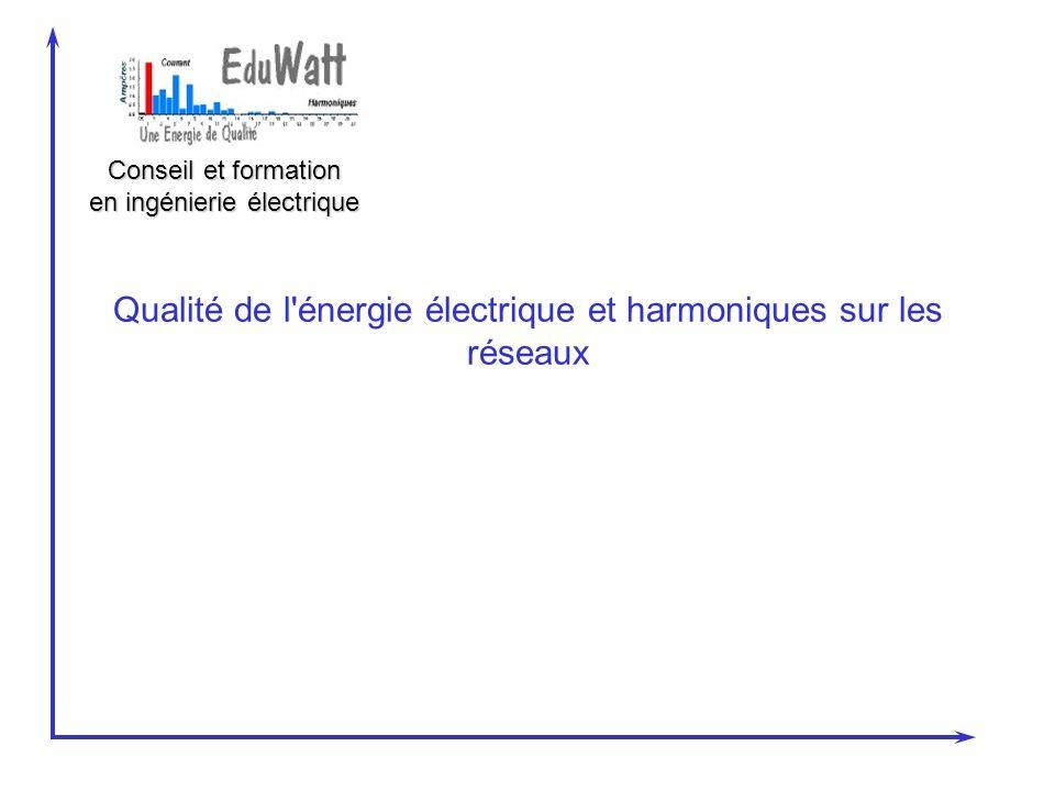 Conseil et formation en ingénierie électrique Qualité de l'énergie électrique et harmoniques sur les réseaux