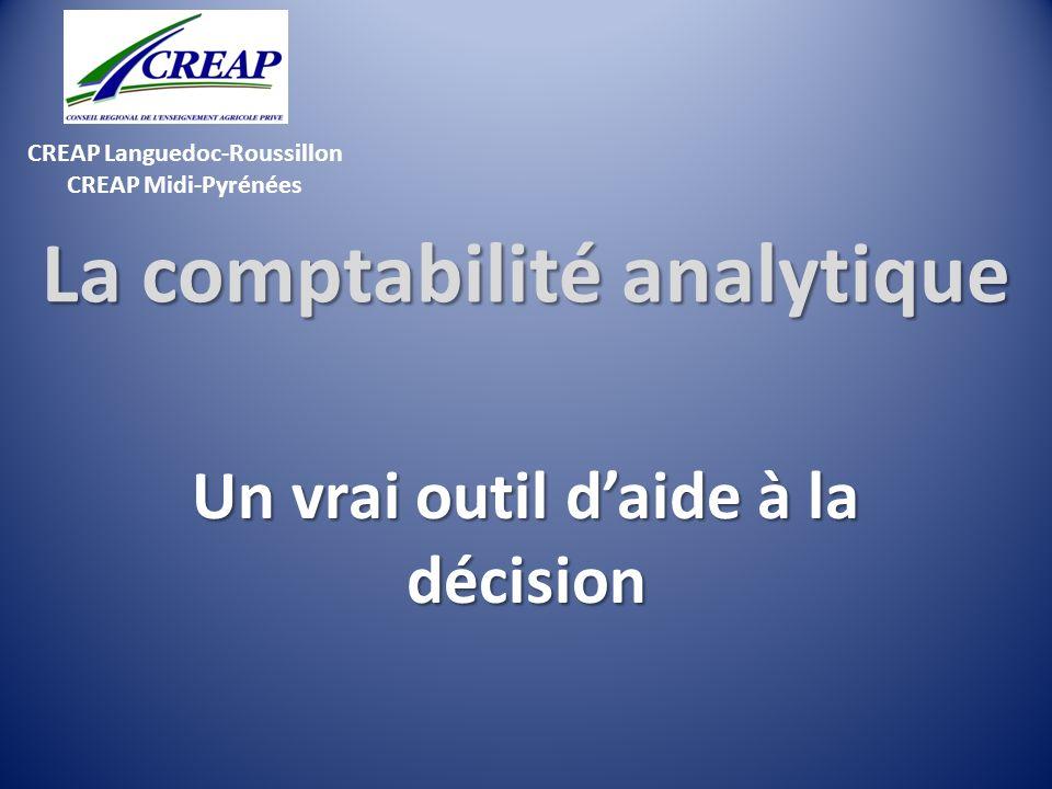 CREAP Languedoc-Roussillon CREAP Midi-Pyrénées La comptabilité analytique Un vrai outil daide à la décision