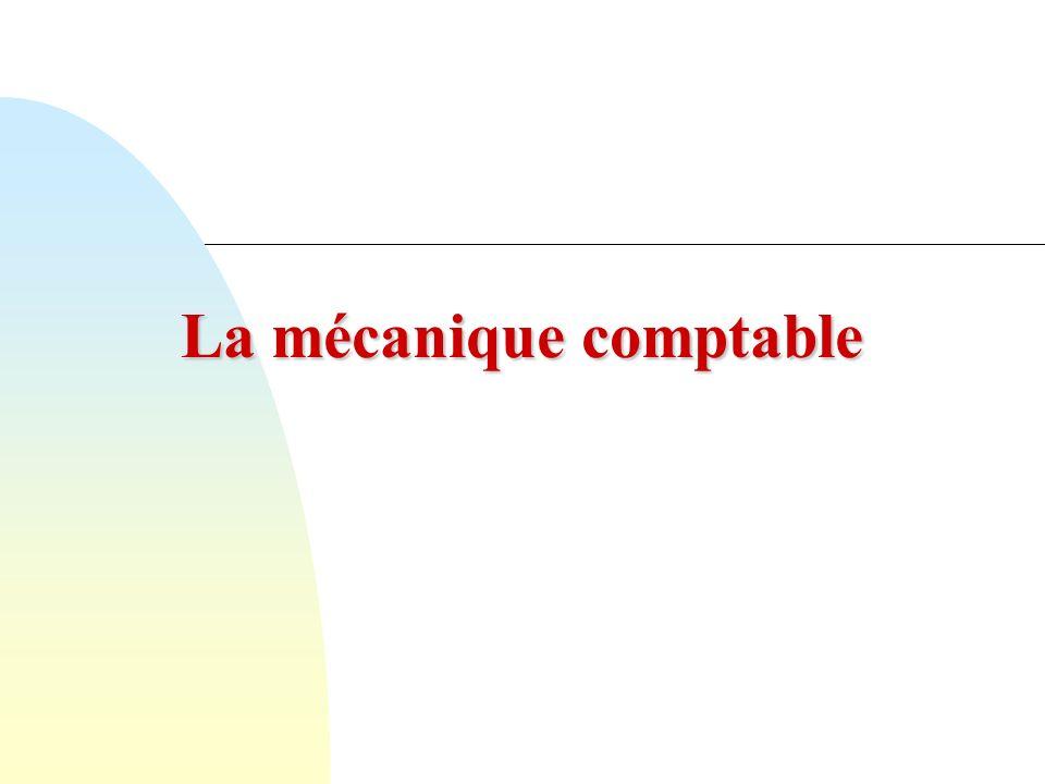La mécanique comptable