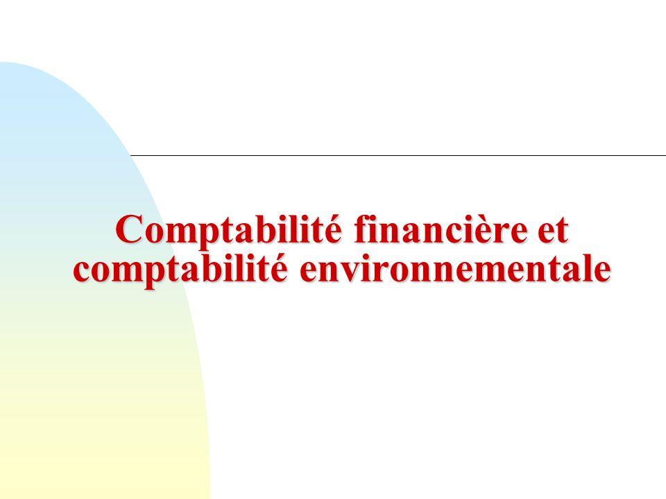 Comptabilité financière et comptabilité environnementale