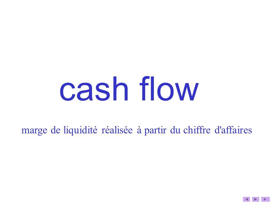 cash flow marge de liquidité réalisée à partir du chiffre d'affaires