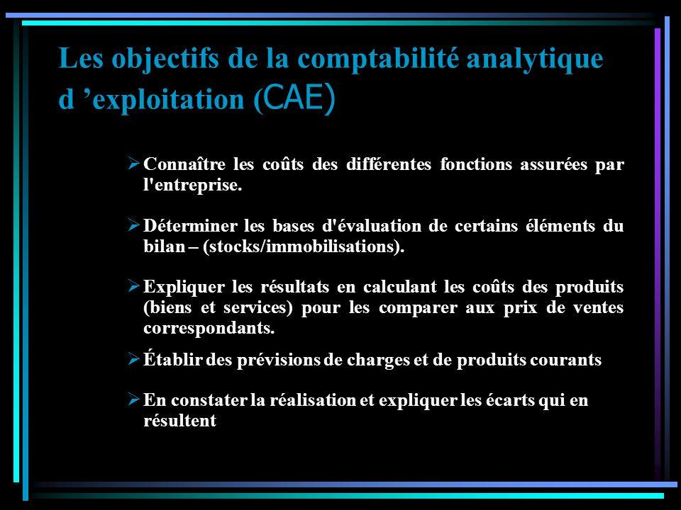 D ou la naissance d une comptabilité que l on a qualifié d analytique ou de gestion. Limites de la comptabilité générale La comptabilité générale cons