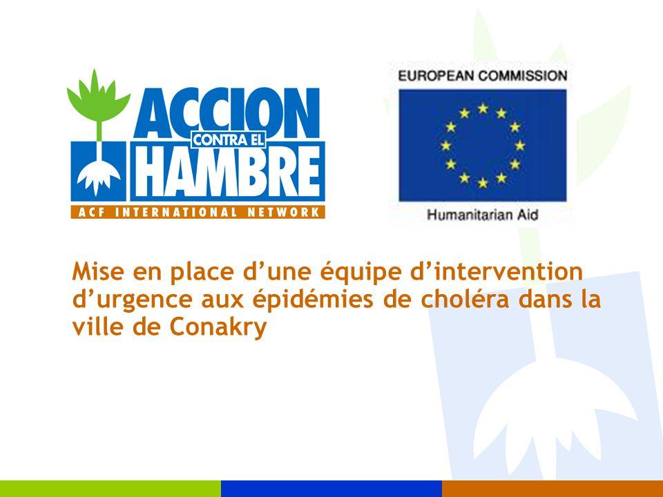 Mise en place dune équipe dintervention durgence aux épidémies de choléra dans la ville de Conakry