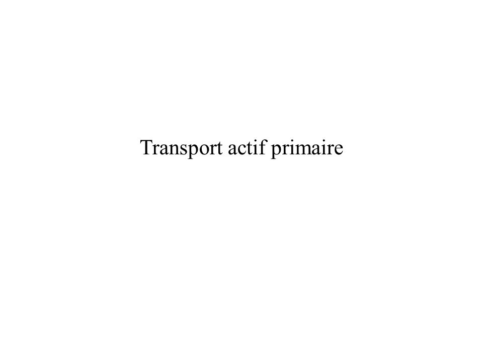 Transport actif primaire