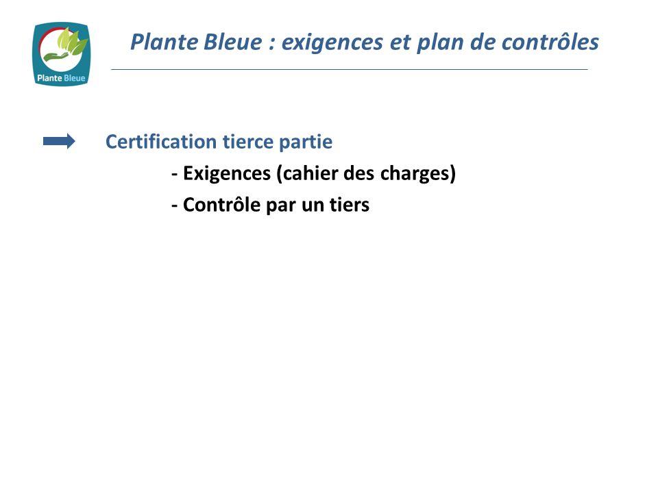 Certification tierce partie - Exigences (cahier des charges) - Contrôle par un tiers