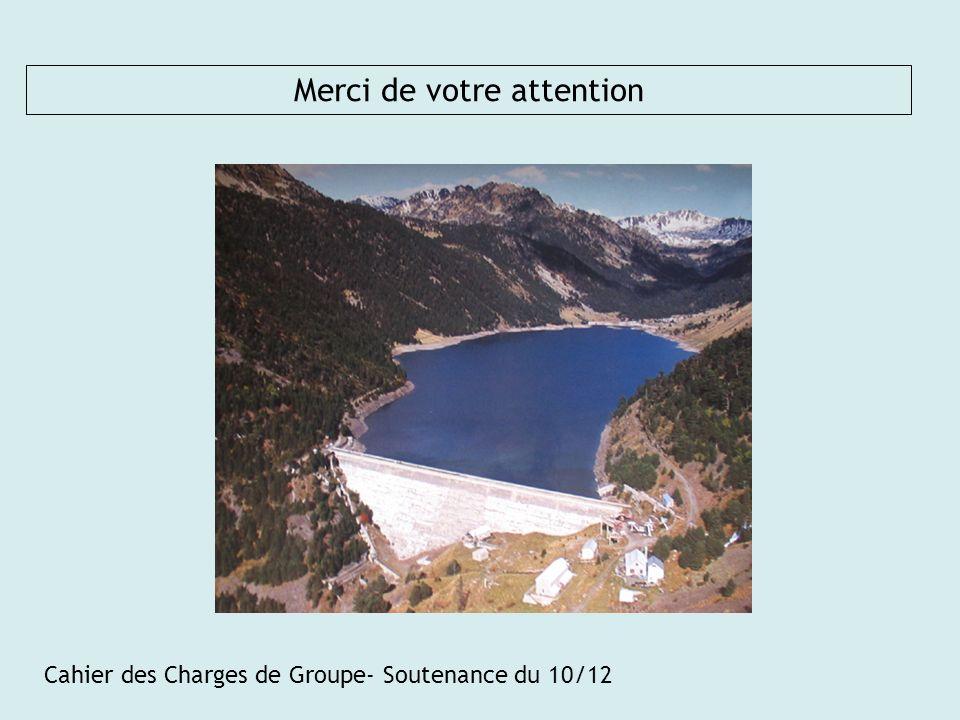 Cahier des Charges de Groupe- Soutenance du 10/12 Merci de votre attention