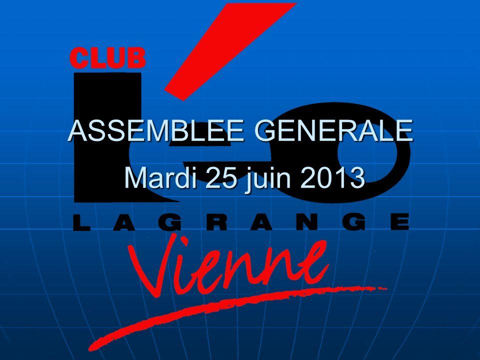 ASSEMBLEE GENERALE Mardi 25 juin 2013