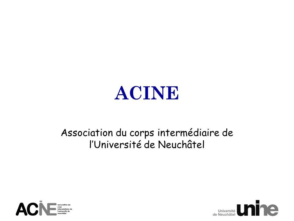 ACINE Association du corps intermédiaire de lUniversité de Neuchâtel