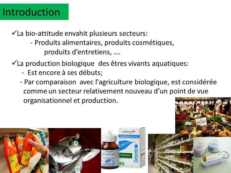 La bio-attitude envahit plusieurs secteurs: - Produits alimentaires, produits cosmétiques, produits dentretiens, …. La production biologique des êtres