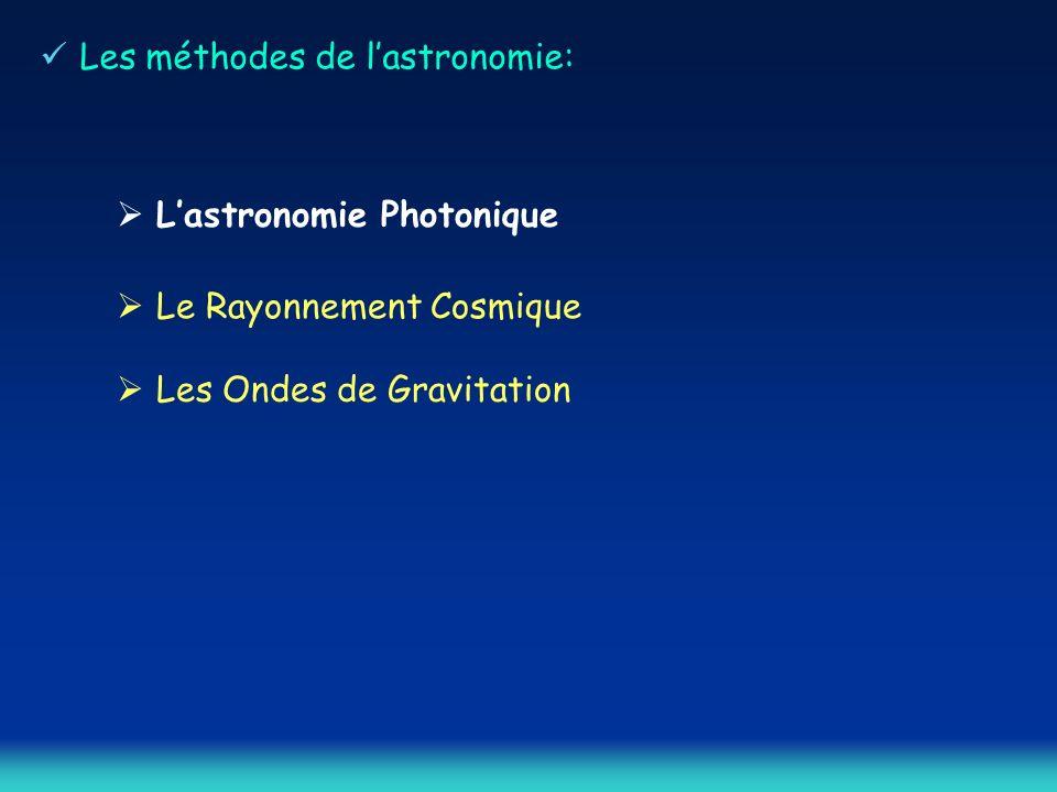 Les méthodes de lastronomie: Lastronomie Photonique Le Rayonnement Cosmique Les Ondes de Gravitation