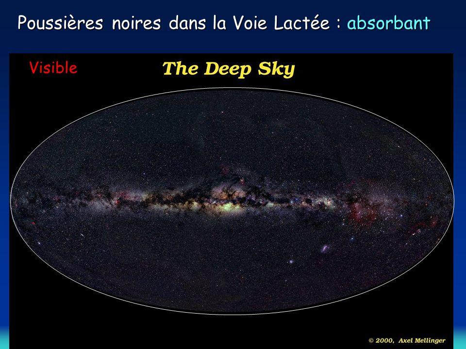 Poussières noires dans la Voie Lactée : absorbant Visible
