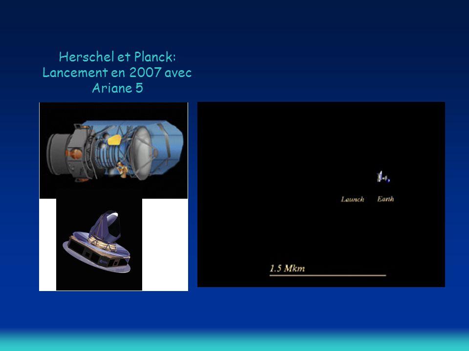 Herschel et Planck: Lancement en 2007 avec Ariane 5