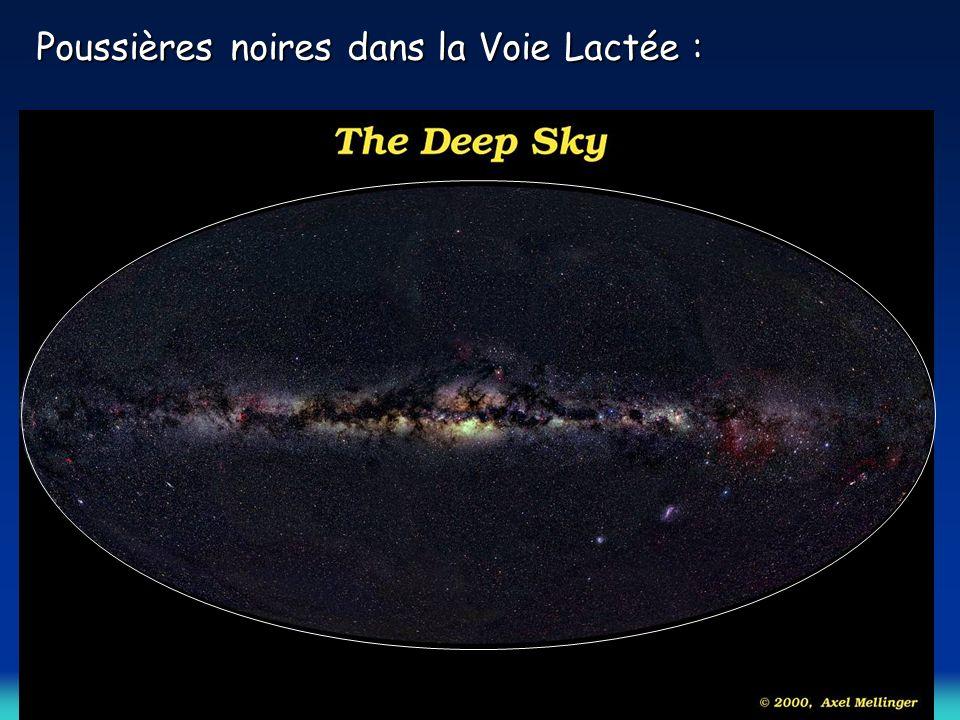 Le ciel infrarouge = 3,5 µm Émission des étoiles Le ciel visible = 0,5 µm: Émission des étoiles absorbée par les poussières