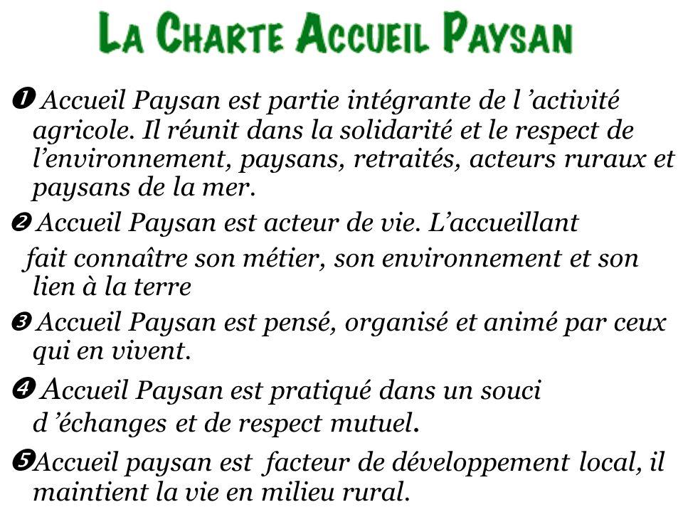 Accueil Paysan est partie intégrante de l activité agricole.