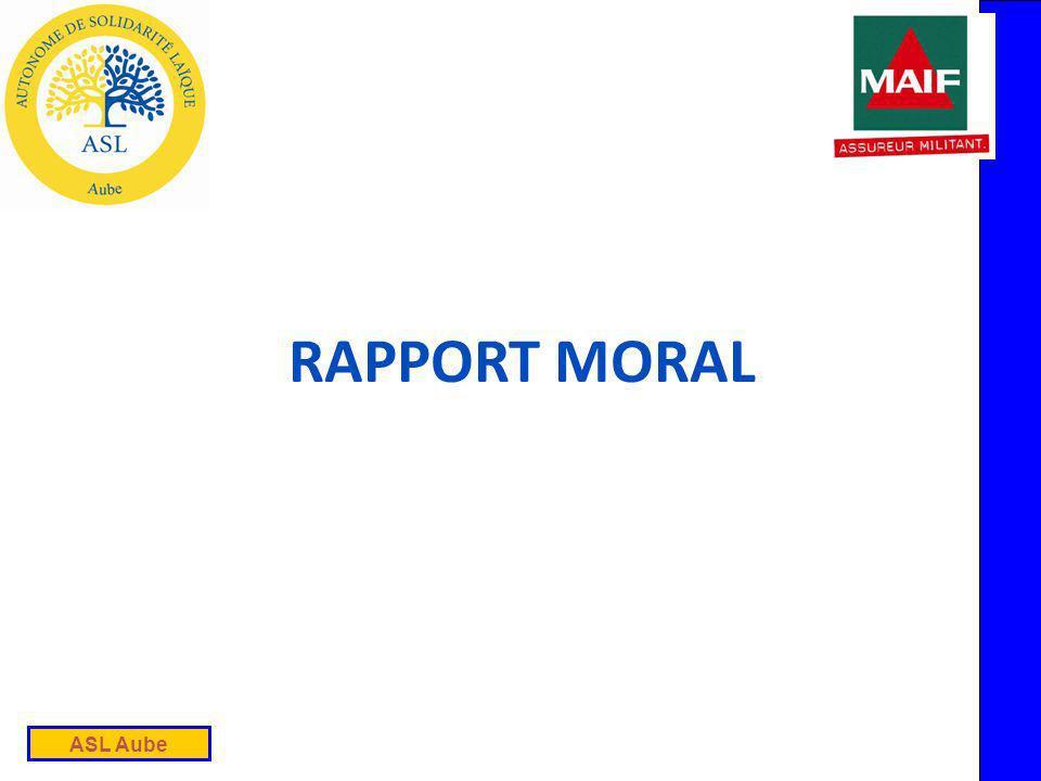 ASL Aube RAPPORT MORAL