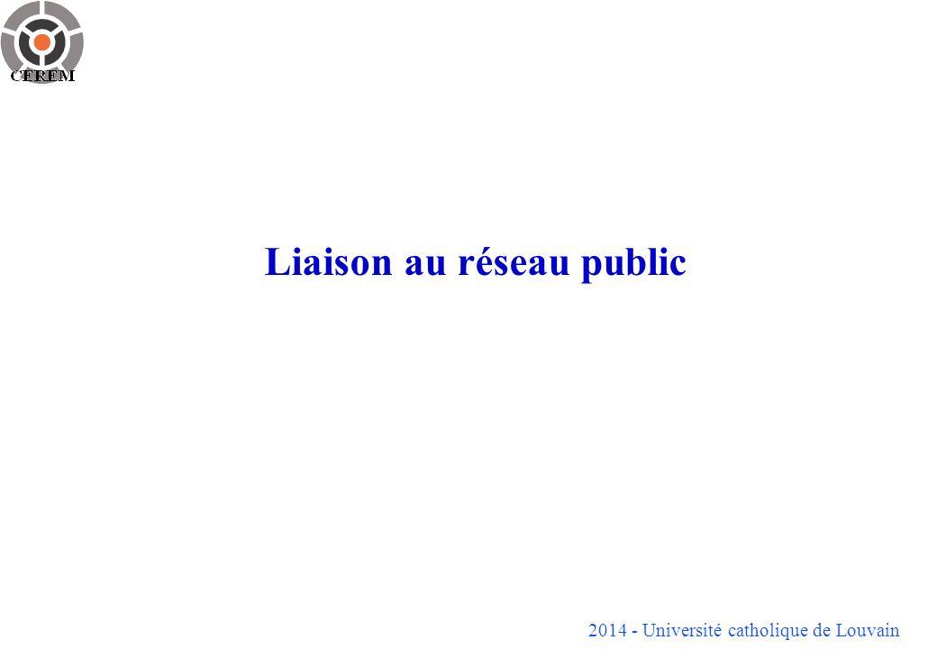 2014 - Université catholique de Louvain Liaison au réseau public