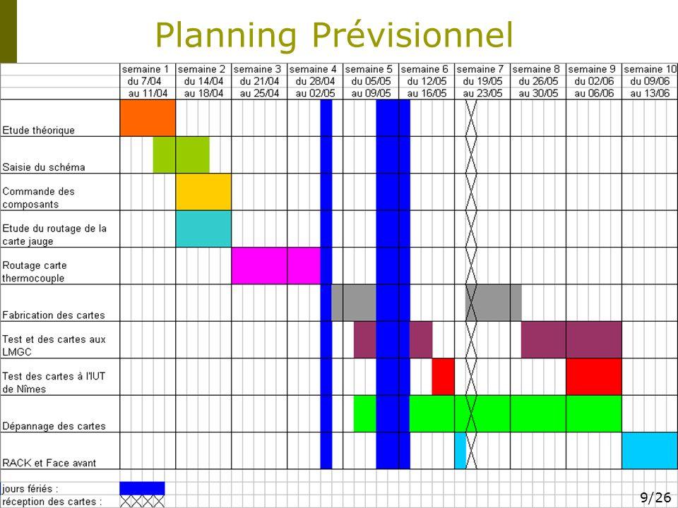 Planning Prévisionnel 9/26