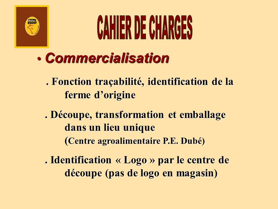 Commercialisation Commercialisation. Fonction traçabilité, identification de la ferme dorigine.