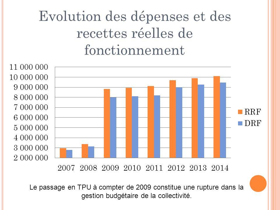 Le passage en TPU à compter de 2009 constitue une rupture dans la gestion budgétaire de la collectivité.
