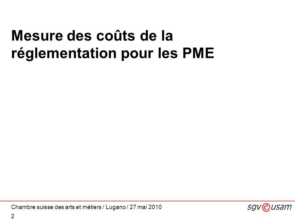 Mesure des coûts de la réglementation pour les PME 2