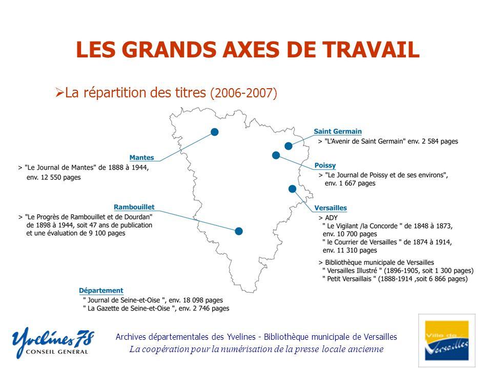 Archives départementales des Yvelines - Bibliothèque municipale de Versailles La coopération pour la numérisation de la presse locale ancienne La répa