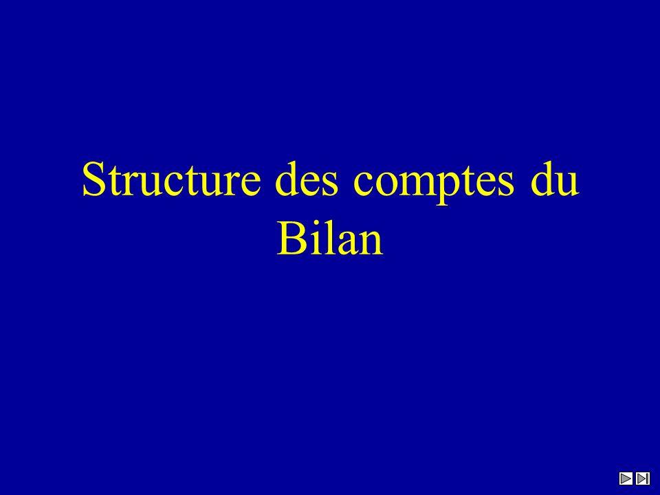 Structure des comptes du Bilan