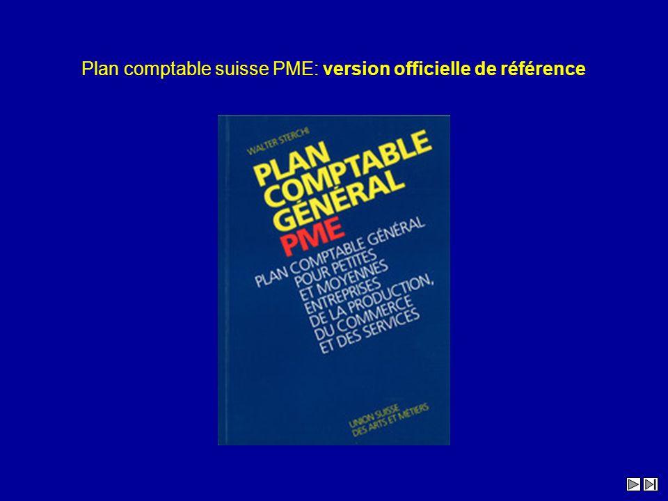 Plan comptable suisse PME: version officielle de référence