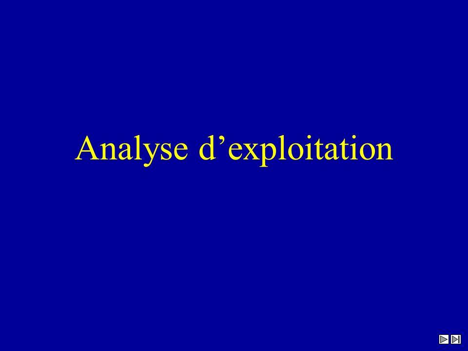 Analyse dexploitation