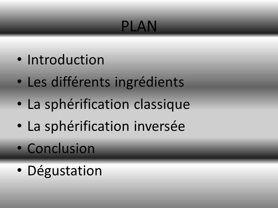 Introduction La sphérification est procédé chimique mis au point dans les années 1990 permettant une gélification en forme de bille, plus ou moins grosses.