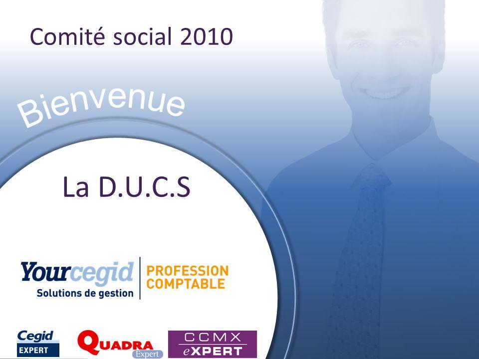 Comité social 2010 La D.U.C.S