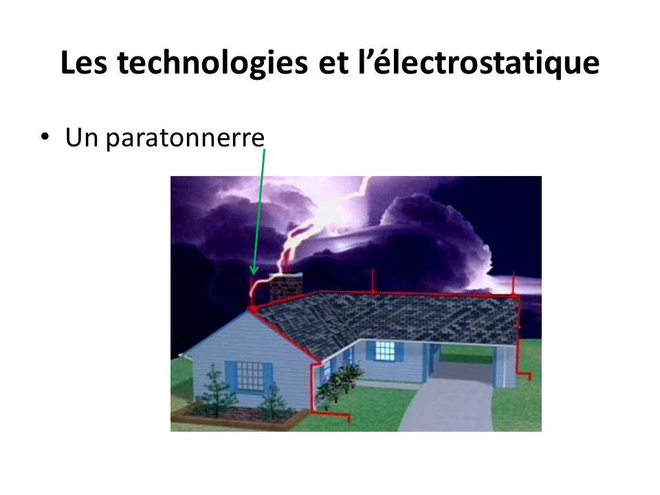 Les technologies et lélectrostatique Un paratonnerre
