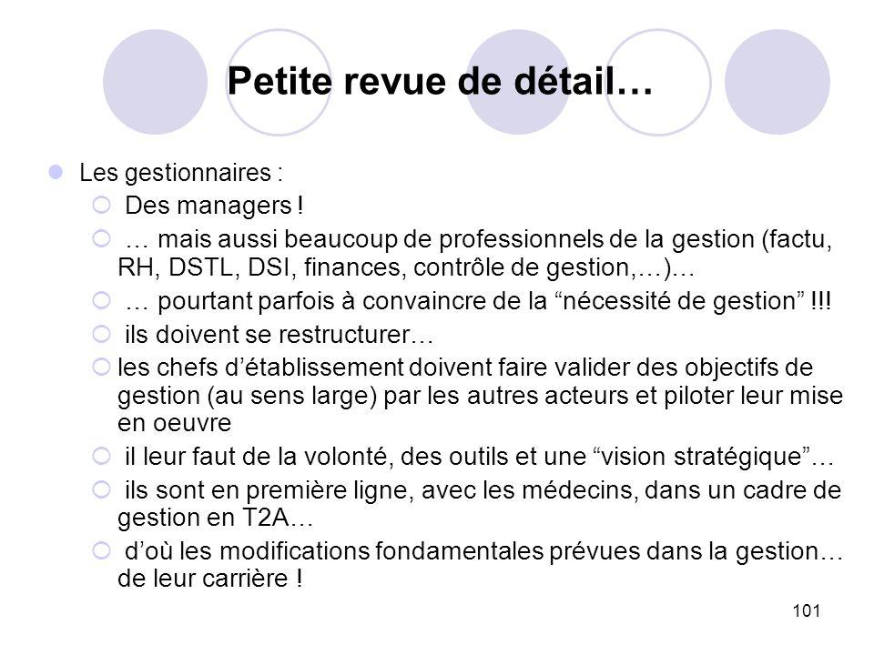 101 Les gestionnaires : Des managers ! … mais aussi beaucoup de professionnels de la gestion (factu, RH, DSTL, DSI, finances, contrôle de gestion,…)…