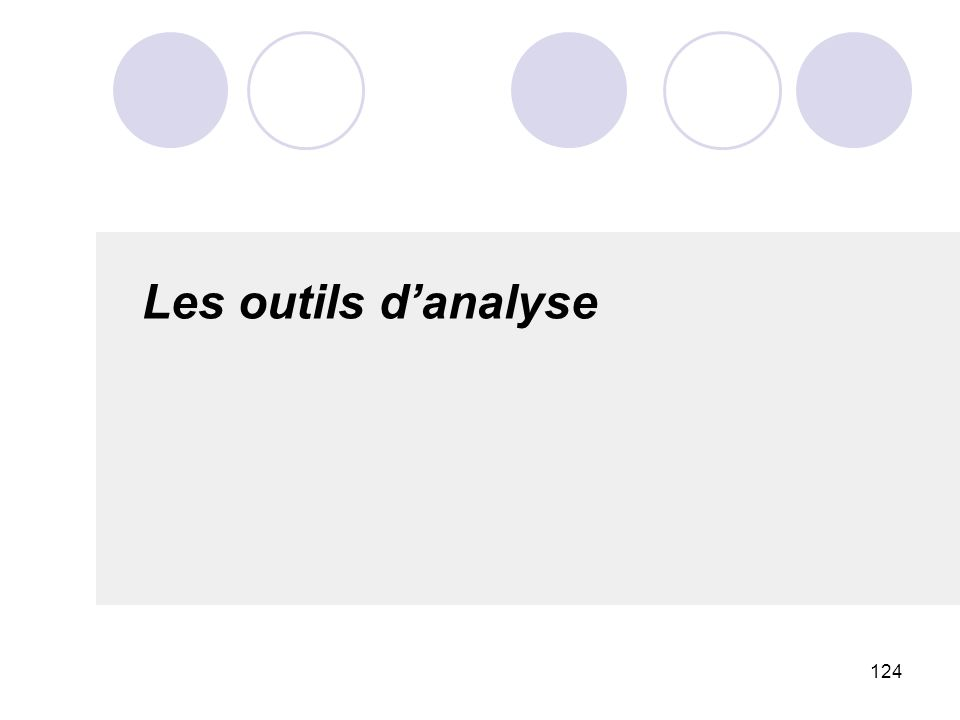 124 Les outils danalyse