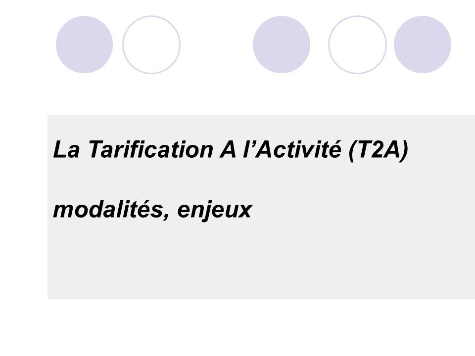 La Tarification A lActivité (T2A) modalités, enjeux