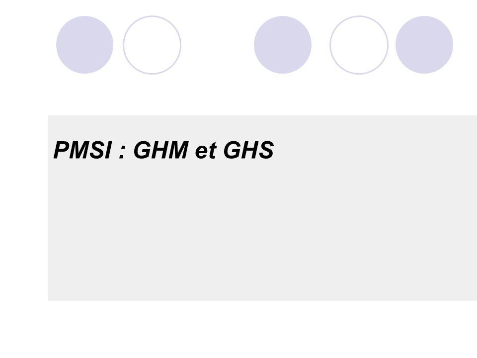 PMSI : GHM et GHS