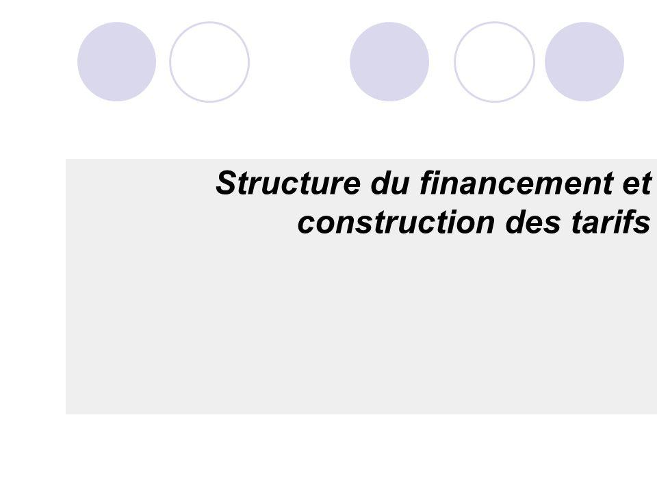 Structure du financement et construction des tarifs