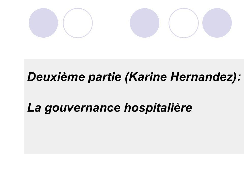 Deuxième partie (Karine Hernandez): La gouvernance hospitalière