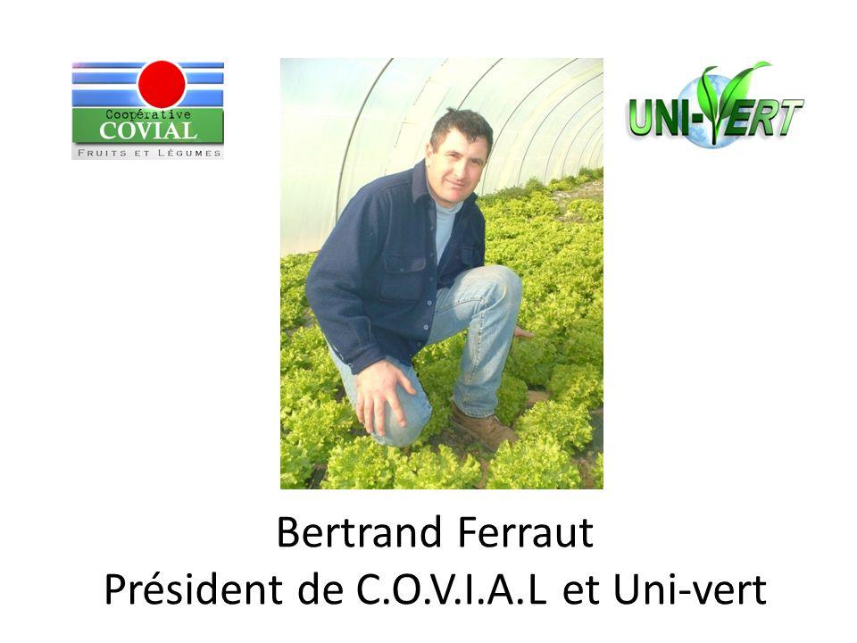 Bertrand Ferraut Président de C.O.V.I.A.L et Uni-vert