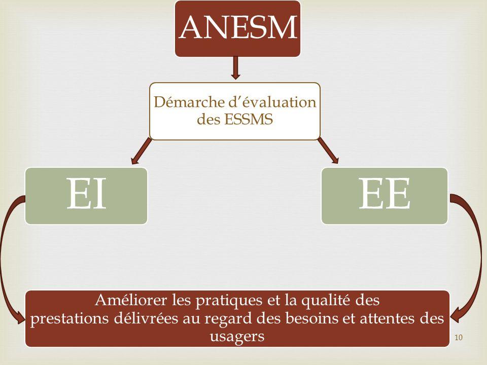 ANESM Démarche dévaluation des ESSMS EIEE Améliorer les pratiques et la qualité des prestations délivrées au regard des besoins et attentes des usager