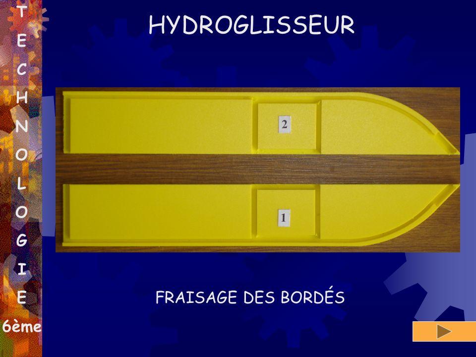 T E C H N O L O G I E 6ème HYDROGLISSEUR FRAISAGE DES BORDÉS