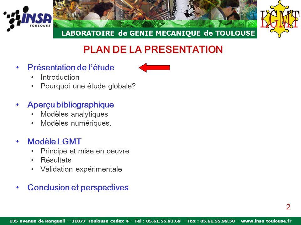 135 avenue de Rangueil – 31077 Toulouse cedex 4 – Tel : 05.61.55.93.69 – Fax : 05.61.55.99.50 - www.insa-toulouse.fr LABORATOIRE de GENIE MECANIQUE de TOULOUSE Questions?