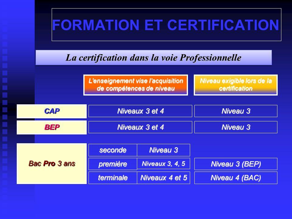 Les référentiels dévaluation et de certification Distincts pour Cap-Bep et Bac pro Distincts pour Cap-Bep et Bac pro Un référentiel pour chaque niveau