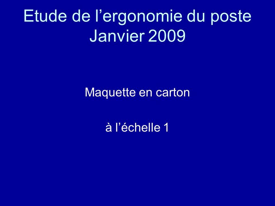 Etude de lergonomie du poste Janvier 2009 Maquette en carton à léchelle 1