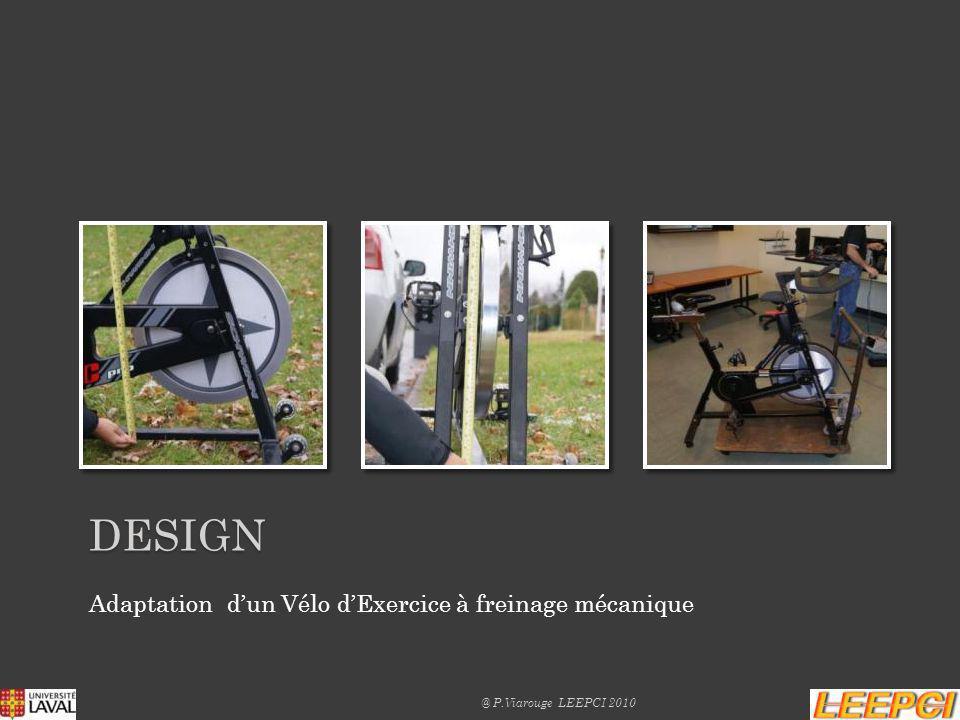 Intégration Alternateur sur Vélo dExercice (étage multiplicateur à courroie) Sécurisation électrique et mécanique DESIGN @ P.Viarouge LEEPCI 2010
