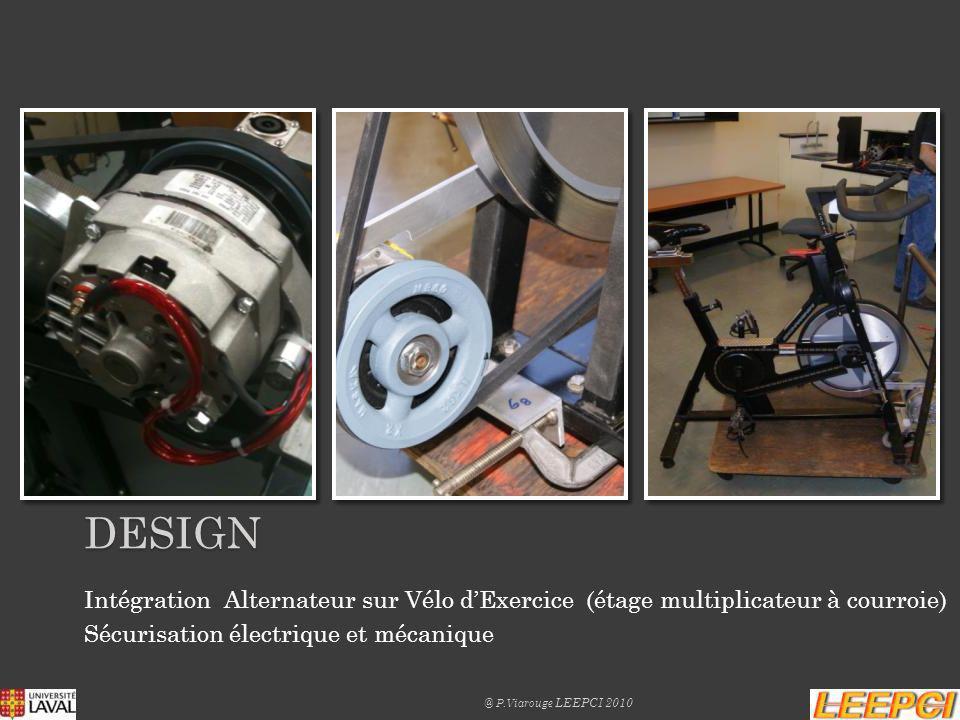 DESIGN «Boîte de Lumière »: Charge électrique déclairage (12 Ampoules Halogène 50W à 12V) pour la dissipation de lénergie électrique générée par chaque groupe Vélo-Alternateur.